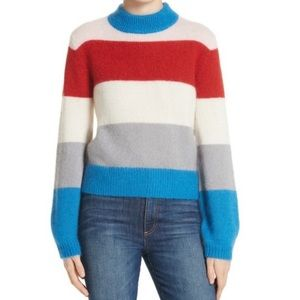 Striped Nordstrom signature sweater- mohair/ silk